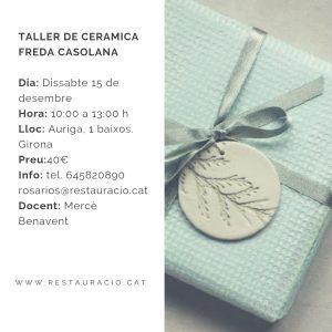 TALLER DE CERÀMICA FREDA CASSOLANA @ R de Rosa Rios